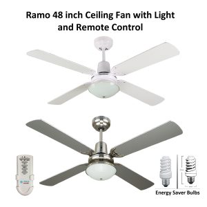 Budget Ceiling Fans | Ceiling Fans and LEDs:Ramo 48 inch Ceiling Fan,Lighting