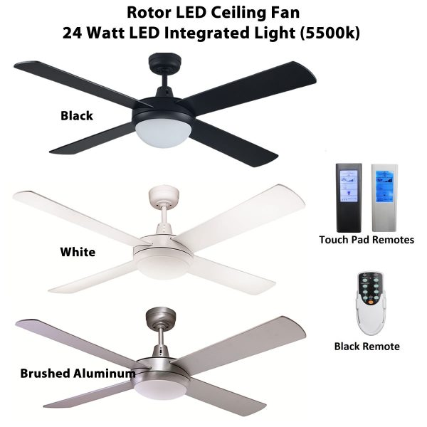 Fias rotor 52 inch led ceiling fan options available ceiling fias rotor led ceiling fan aloadofball Image collections