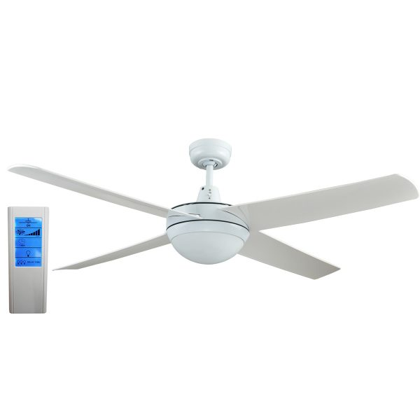 Rotor 52 inch led ceiling fan with abs blades in white white touch rotor led light 52 white ceiling fan with abs blades wh touch pad remote mozeypictures Images