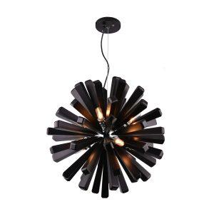 Burst 720 Black Pendant Light - P1121BUR72BLK