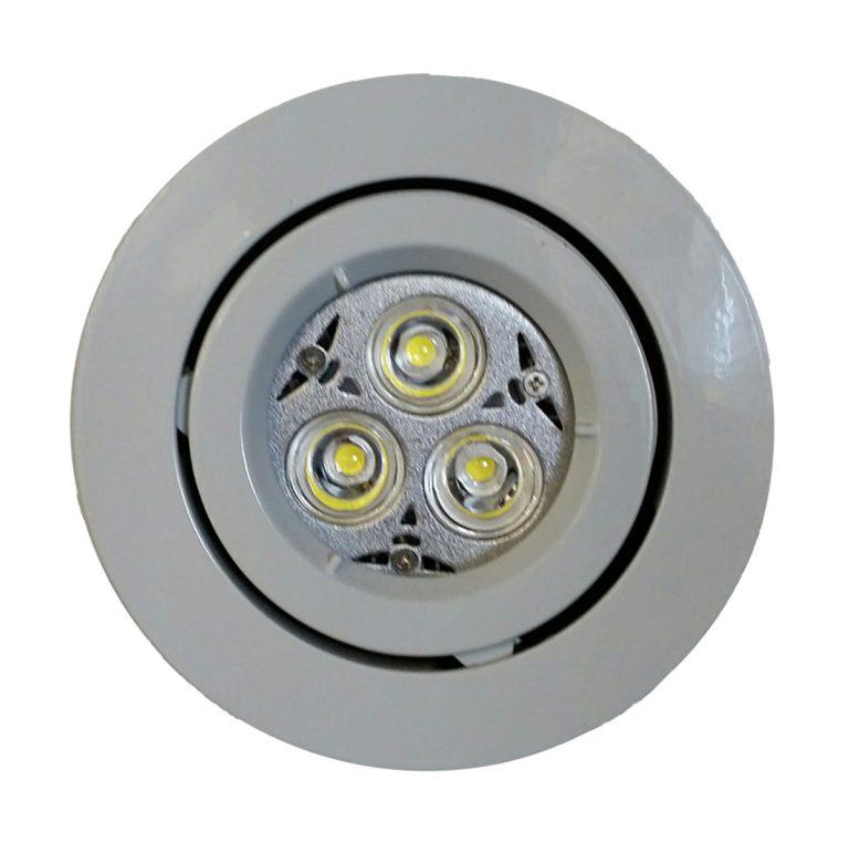 6 Watt Led Downlight Kit 240v Warm White Led 90mm White Gimble