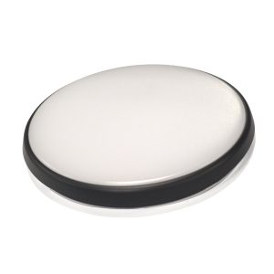 Round 28W LED Ceiling Light - Black Frame in Cool White - LEDOYS28WRNDBLCW